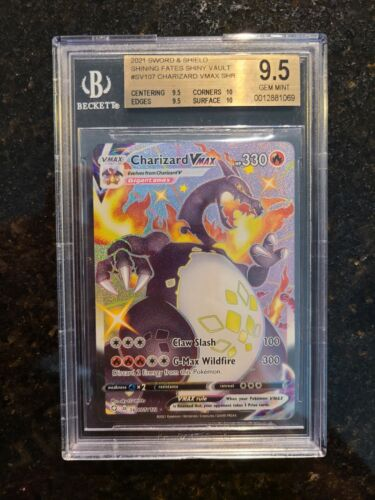 Pokémon Charizard Vmax Shiny - Shining Fates SV107/SV122  BGS 9.5 Gem Mint