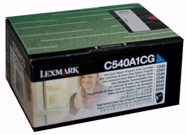 Lexmark Genuine C540A1CG CYAN Toner Cartridge C540/C543/C544/C546/X543/X544/X546