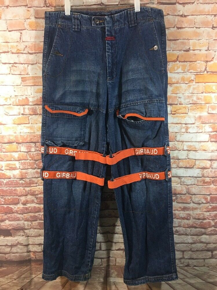 ea4634a4 Marithe & Francois Girbaud Men's Baggy Denim orange Shuttle Tape Denim Jeans  34M. REASON SLIM FIT CAUSEWAY PATCHES MOTO JEAN Men's size 36 x 32 NWT