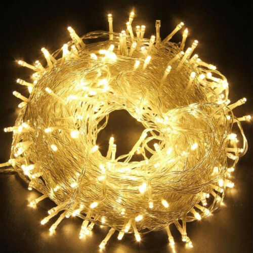 UK LED Fairy Lights 200//300//500//1000 LED Plug Wire String Outdoor Party Decor
