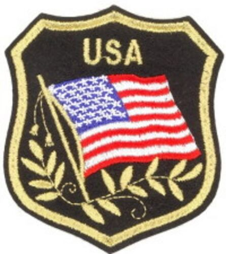 DECORATION USA //BIKER 6.5 X 8 CM PATCH THERMOCOLLANT DRAPEAU USA BLASON NEUF