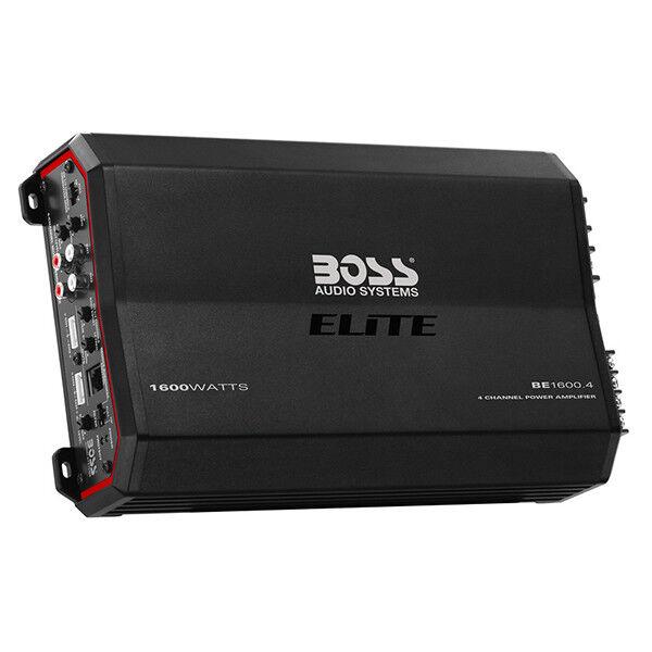 Boss Elite BE1600.4 1600 watt 4 Channel Amplifier w/ Remote Subwoofer Control
