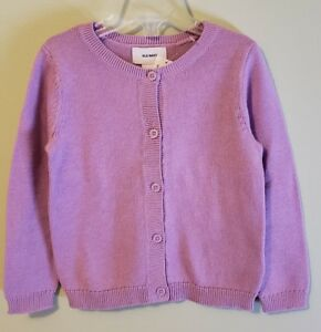 NEW Old Navy Girls 18-24 MONTHS 2T 4T Lavender Cardigan Sweater Crew Neck #37118