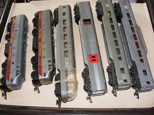 Logique Triang R55 & R57 Transcontinental 6 Piece Train Set In Silver Grey Limpide à Vue