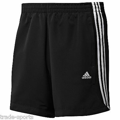 adidas MENS CHELSEA SHORTS SIZE S M L XL XXL BLACK RUNNING TRAINING CLIMALITE