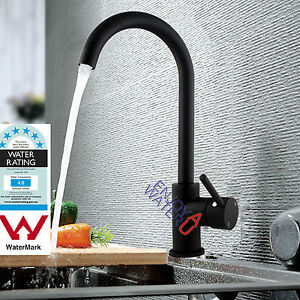 Electroplating-Black-Kitchen-Basin-Sink-Mixer-Tap-Swivel-Shower-Spout-Faucet-NEW