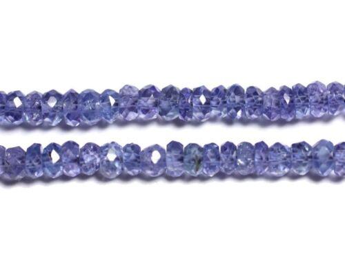 455855009045 10pc Perles de Pierre Tanzanite Rondelles Facettées 2.5x1.5mm