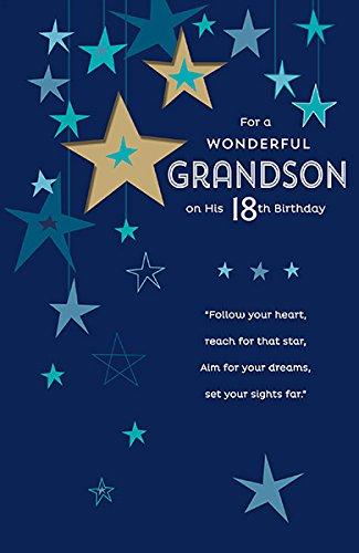 Wonderful Grandson 18th Birthday Card