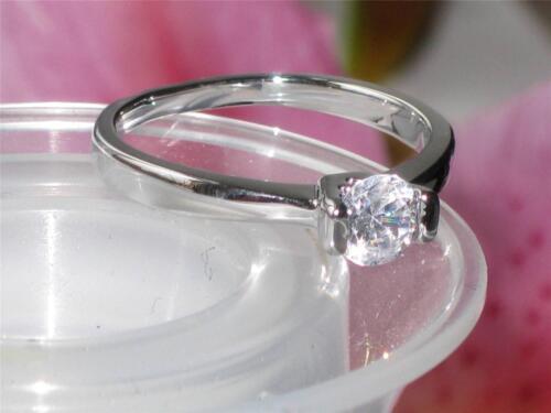 RG206 Mujer 1CT solitario compromiso anillo de diamantes simulados Muy Elegante