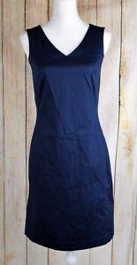 The-Limited-Stretch-Sheath-Dress-V-Neck-Sleeveless-Navy-Blue-Size-2-NWT-69