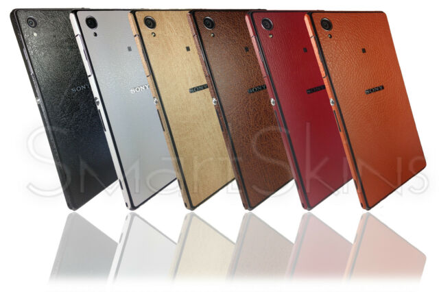 Leather Effect Skin For SONY XPERIA Z1 Wrap Cover Sticker Protector Case decal