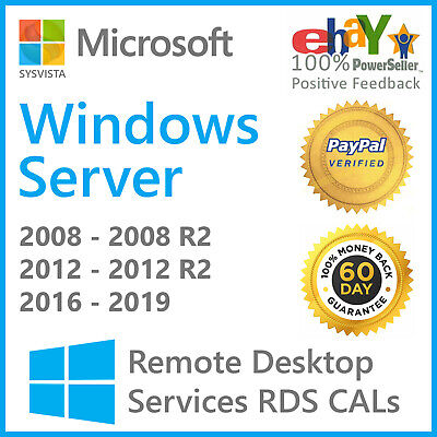 Windows Server 20082008 R2 Remote Desktop Services RDS 20 USER CAL License