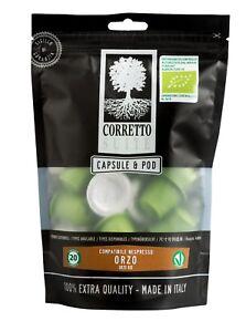 Original Orzo Biologico 40 Capsule Compatibili Nespresso