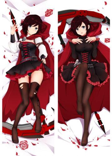 Anime Ruby Rose Dakimakura Hugging Body RWBY Pillow Case Cover New