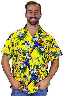 Funky Hawaiian Shirt Cherry Parrot Various Colors Hawaiian Shirt