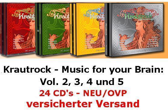 NEU/OVP: Krautrock - Music for your Brain Vol. 2, 3, 4, 5 (24 CD's)