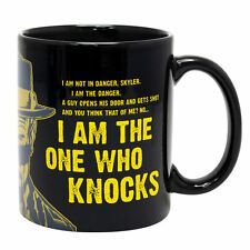 BREAKING BAD I AM THE ONE WHO KNOCKS HEAT CHANGE MUG CERAMIC CUP TEA COFFEE ICE