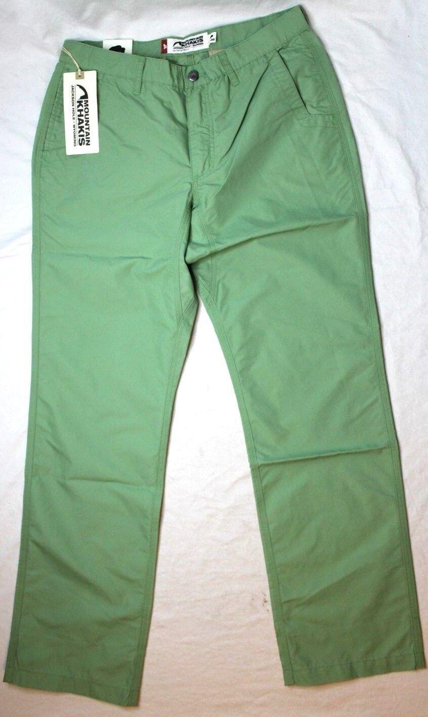 Mountain Khakis Men's Poplin Pant Slim Fit Sage Green New NWT