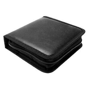 Portable-Rectangle-CD-Carrying-Storage-Case-Bag-Holder-Black-N