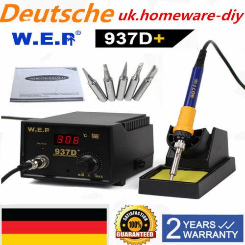 Digital Lötstation Heißluft Lötkolben Soldering SMD Rework Station 60W DHL 937D