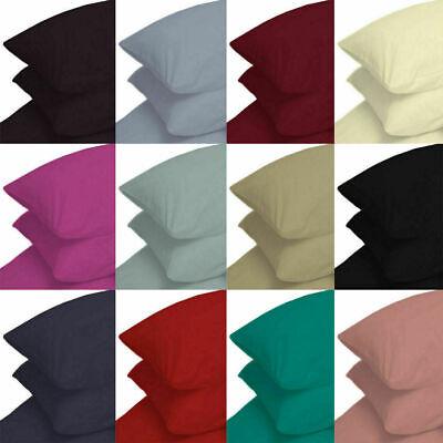 2 x taie d/'oreiller de luxe cas poly coton femme au foyer chambre oreiller housse percale