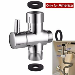 3 Way Shower T Valve Diverter For Handheld Shower Head Bath Tap