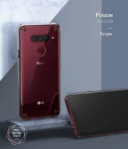 more photos d172b b307a Details about Ringke Fusion Transparent Slim Hard Bumper Clear Cover for LG  40 ThinQ Case