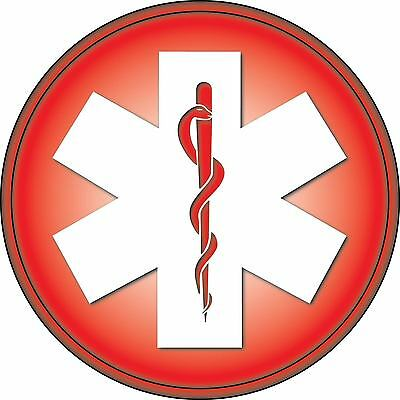 Star of Life Vinyl Sticker Decal Sign *SIZES* Blue Medical Paramedic EMS EMT