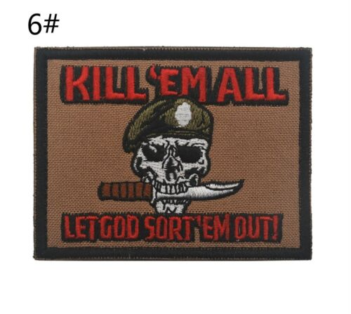 1PCS Embroidery Hook patches Army Military morale patch Tactical Badge armbands