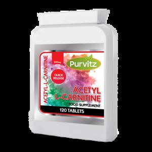 120 x Acetyl L-Carnitine Comprimés 1500 mg par portion-Haute Résistance Capsules UK-afficher le titre d`origine R2tOGUxS-07155033-788338219