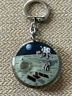 Vintage Keychain Souvenir Very Rare Man On The Moon Moves Mobile