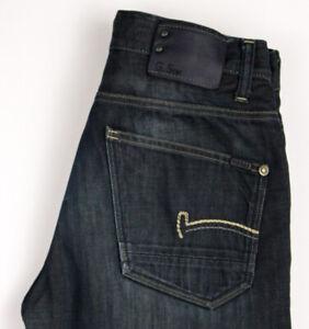 G-Star Brut Hommes Codeur Pantalon Droit Jambe Slim Jean Taille W31 L32 ARZ1518