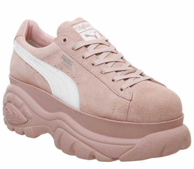 Womens Puma Suede Trace Platform Peach BeigePearl Trainers (PF3) RRP £70.99 | eBay