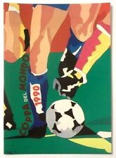 Cartolina Mondiali Di Calcio Italia 90 Ugo Nespolo - Torino (Nuovo Stadio) G
