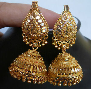 jhumka jewelum brass with plated pearl fashionable by earrings earring fashion gold