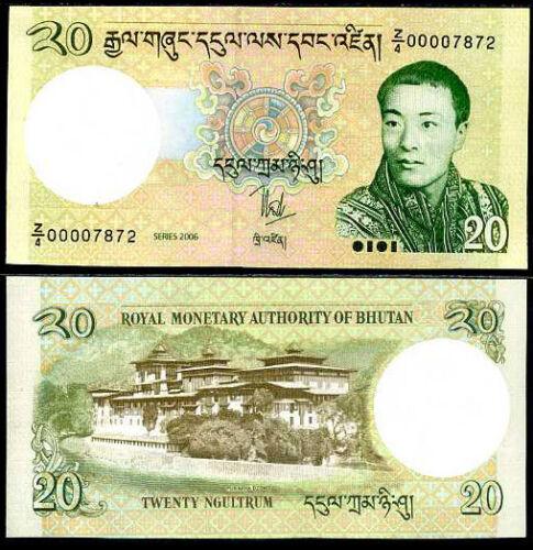 BHUTAN 20 NGULTRUM 2006 P 30 REPLACEMENT Z//4 UNC
