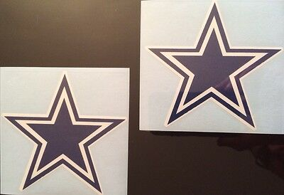 Dallas Cowboys Star - Blue & White 2 Pack Decal**FREE SHIPPING**