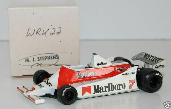 WESTERN MODELS SIGNED 1st VERSION - 1 43 SCALE - WRK22 1979 McLAREN M29 J WATSON