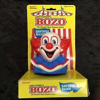 Bozo The Clown Larry Harmon Savings Bank By Superior 1987 Near Mint On Card