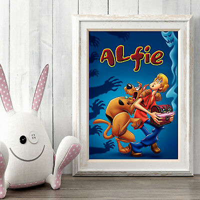 SCOOBY DOO Personalised Poster A5 Print Wall Art Banner Any Name Fast Delivery