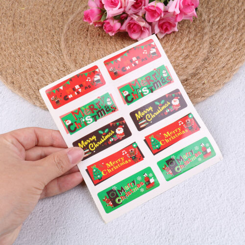 100pc Merry Christmas Paper Sealing Stickers DIY Gifts Labels Candy Bag TagQA