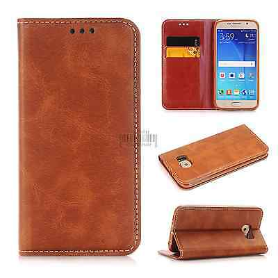 Leather Flip Cover Wallet Slot Card Case Magnetic Stand Skin For Apple Samsung