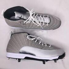 new arrival 197a2 aa917 item 8 Nike Air Jordan 12 XII Retro Sz 15 854567 100 Baseball Metal Cleats  Silver Mens -Nike Air Jordan 12 XII Retro Sz 15 854567 100 Baseball Metal  Cleats ...