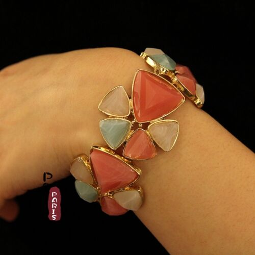 Bracelet Elastique Fleur Couleur Bonbon Retro Original Soirée Mariage Cadeau CT2