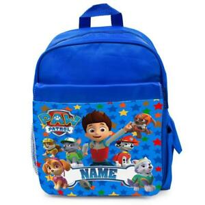 5a8e5c692c2 Details about Personalised Boys School Bag PAW PATROL Backpack Childrens  Kids Name Blue PW01