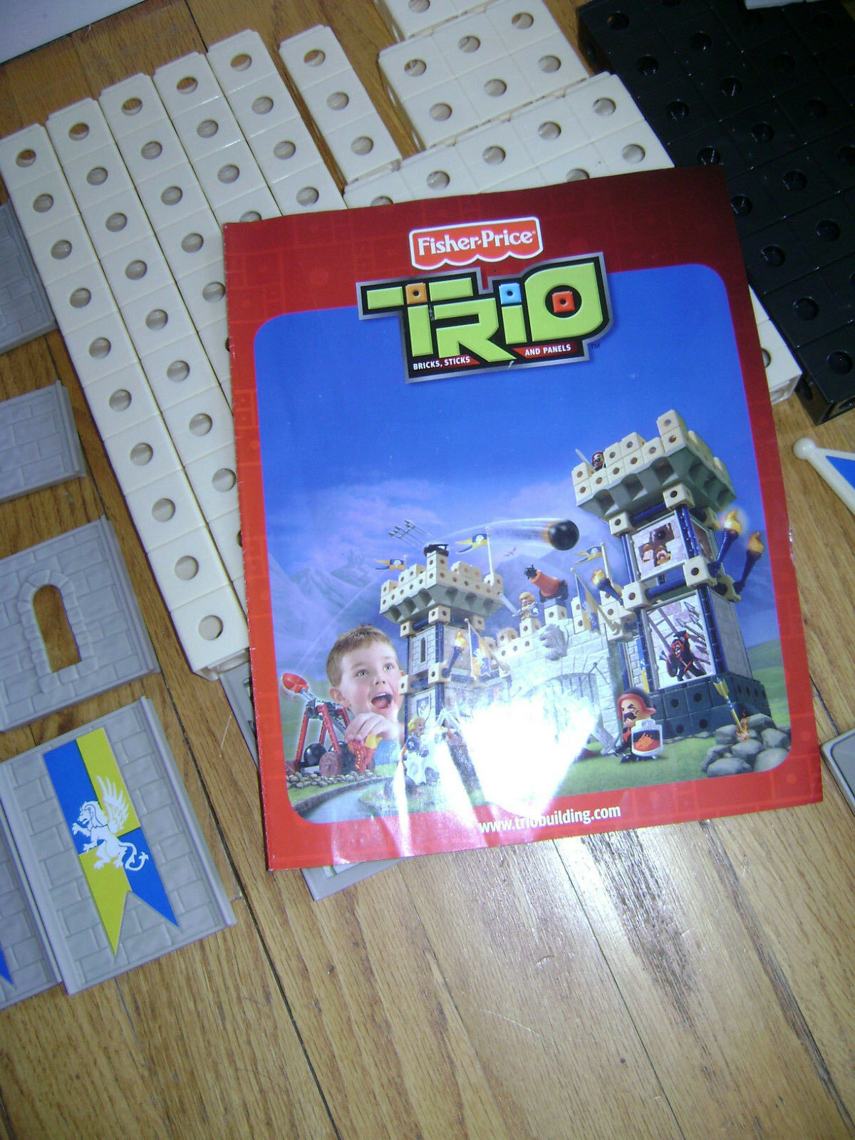 Fisher-Price TRIO TRIO TRIO King's Castle Hard To Find Building Set P6841 COMPLETE & RARE 7d1156