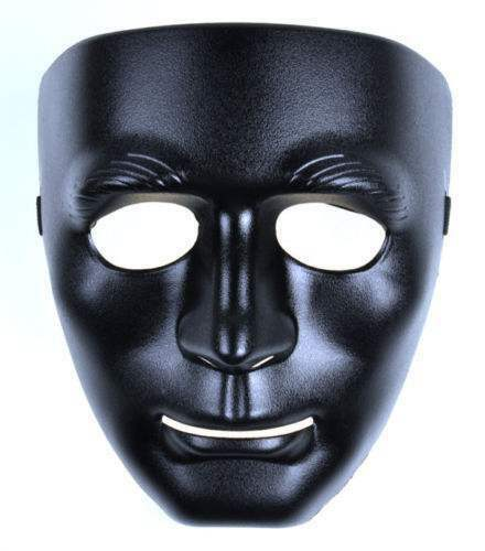Full Face Black Dance Party Costume Crew Mask