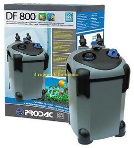 Prodac Filtro esterno DF 800 con Lampada UV per acquari fino a 350 litri