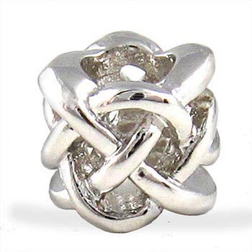 Wholesale 20pcs Celtic Knot Cross Silver European Bracelet Charm Beads D499