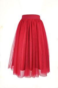 ae995e5ab3 Layered Tulle Skirt Women Tutu Navy, Red, Black, Light Blue | eBay